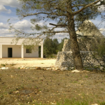 villa with trullo and beautiful garden for sale in carovigno