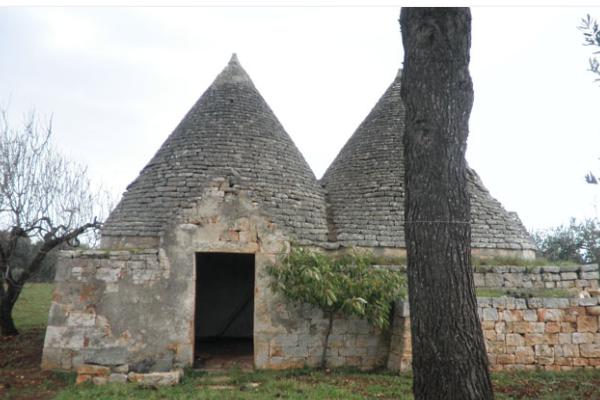 Trullo in pietra con ulivi in vendita in Valle d'Itria